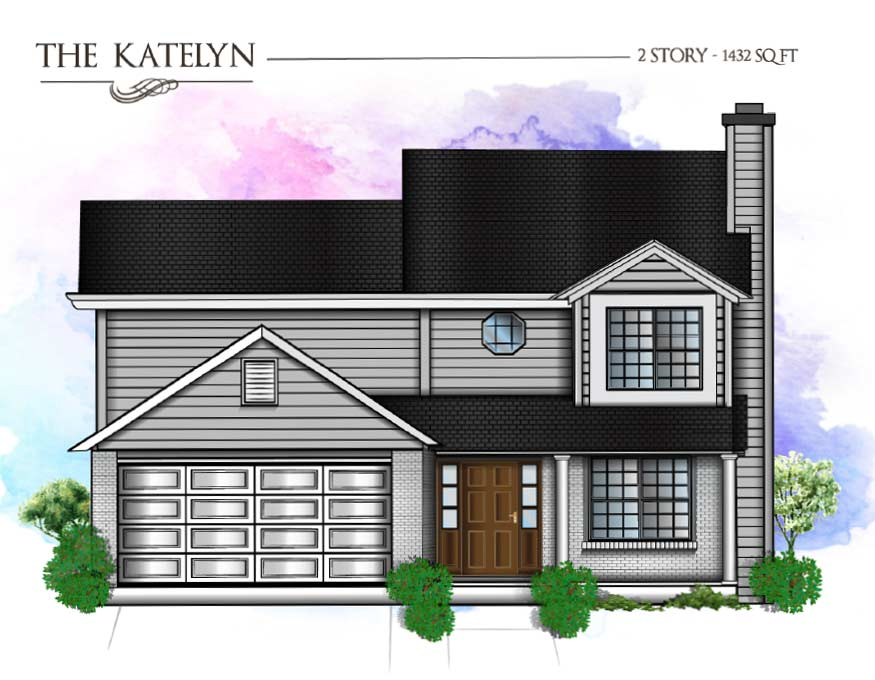2 story home drawing of a house in st. louis